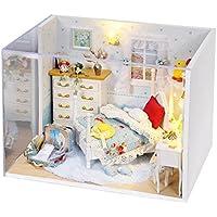Molie 3d DIY家Miniモデル部屋家具ハンドメイドキットドールハウスBestギフトホーム装飾 – Freshホームのプリンセス、接着のダストカバーno Makingツール