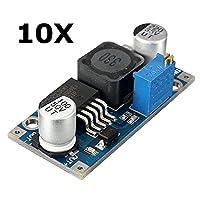 Prament 10ピース 3a XL6009 dc-dc 50KHz 調整可能なステップアップ電源コンバータモジュール