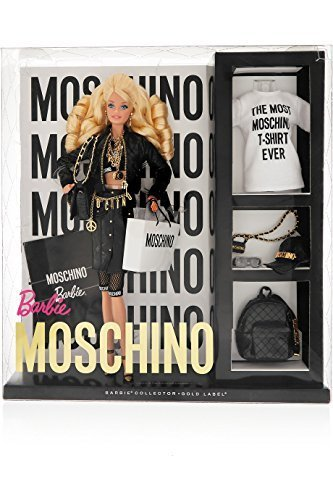 輸入バービー人形 Moschino Barbie Blonde Version NRFB limited edition [並行輸入品]