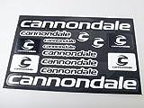 Cannondale自転車フレームデカールステッカーグラフィックセットビニールAdesivi(ブラック - ホワイト) (BLACK)