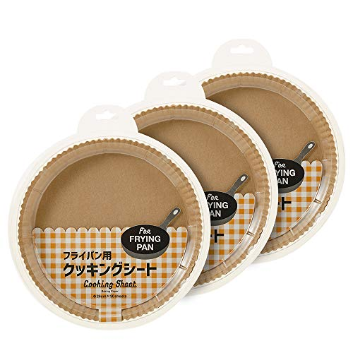 【Amazon.co.jp限定】 Kuras 丸型形状クッキングシート 底部直径21cm 30枚×3個入り