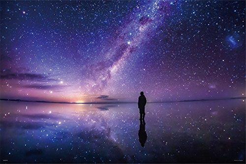 1000ピース ジグソーパズル KAGAYA 銀河のほとりで(ウユニ塩湖) 【光るパズル】(50x75cm)