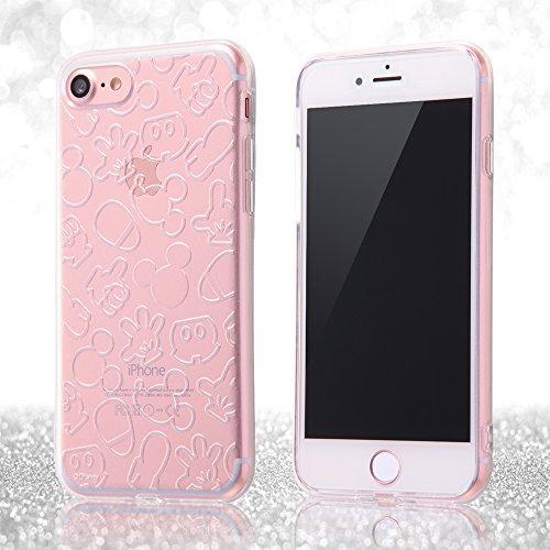 レイ・アウト iPhone7ケース ディズニー TPUソフトケース(ラメ入り) キラキラ/ミニーマウス RT-DP12A/MN