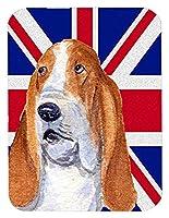 Caroline 's Treasures Basset Hound with英語ユニオンジャックイギリス国旗マウスパッド/ホットパッド/五徳( ss4970mp )