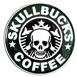 【ノーブランド品】 缶バッジ SKULLBUCKS  直径38mm 裏ピン