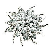 PINKING ブローチ 花 ファッション ジュエリー 綺麗 アクセサリー かわいい 輝き ギフトに最適 プレゼント