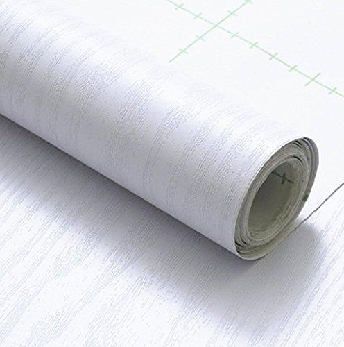 木目 壁紙 カッティングシート はがせる 壁紙シール 木目調 白 60cmx2m
