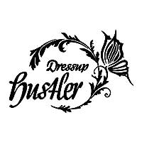 バタフライサークル Hustler ハスラー カッティング ステッカー ブラック 黒