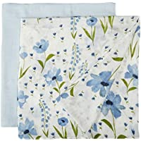 Little Unicorn Deluxe Muslin Swaddle Blankets (set Of 2) - Windflower Set Light Blue [並行輸入品]