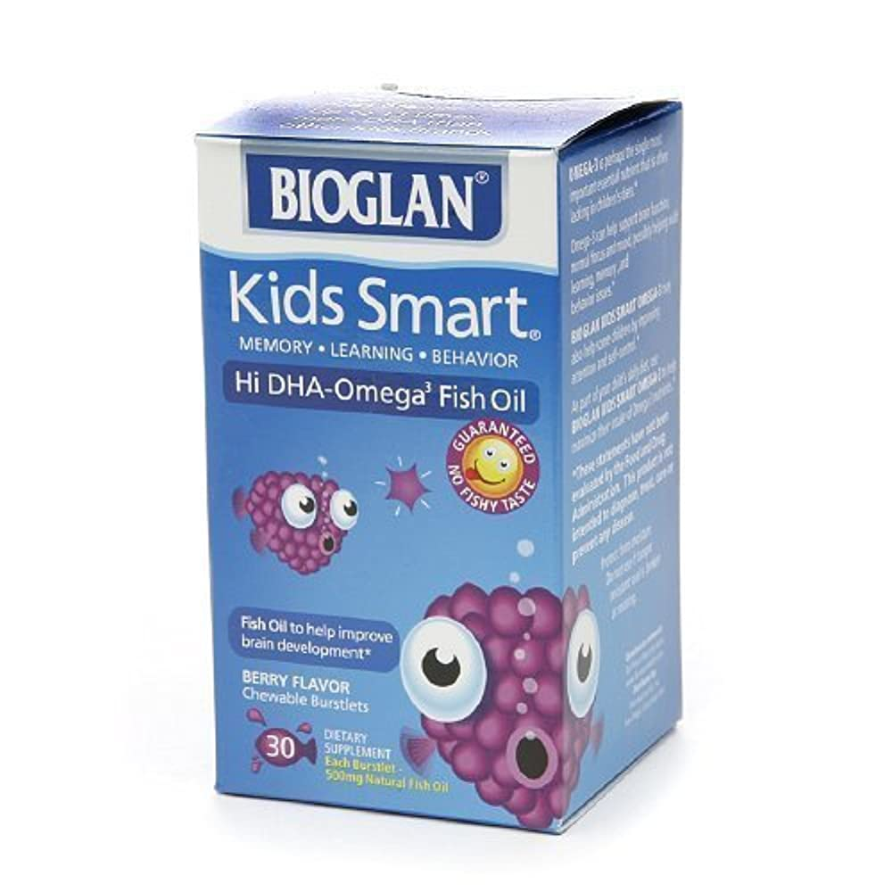 北極圏傾斜高尚なBioGlan Kids Smart Hi DHA Omega-3 Fish Oil, Chewable Burstlets, Berry--30 ea-Product ID DRU-318828_1 by bioglan...