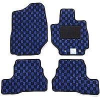 【フロアマット】 スズキ 新型 ジムニー ジムニーシエラ JB64W JB74W (オートマ車専用) チェックシリーズ ブラック×ブルー (国内生産社外マット) JIMNY JIMNYSIERRA