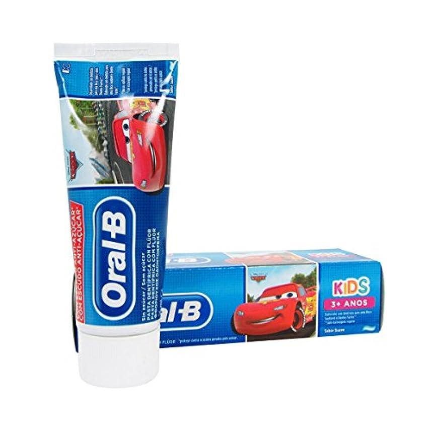 強大な血色の良い感動するOral B Kids Cars Children's Toothpaste 75ml [並行輸入品]