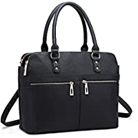 Miss Lulu Women Laptop Handbag Ladies Fashion Shoulder Bag Female PU Leather Large Tote Girls Cross Body Messenger Satchel