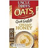UNCLE TOBYS OATS QUICK SACHETS Creamy Honey, 12 x 35g