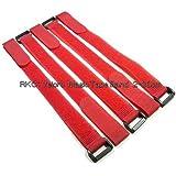 【 RKC 】 固定ベルト 2cm × 30cm (赤×5本) : 042C