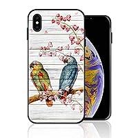 iPhone XS Max 携帯ケース インコ 鳥 植物 鳥が花の香りをささやく ケース 最新製品 防塵 軽量 薄型 擦り傷防止 耐衝撃 全機種対応 スマホ用 ソフトケース 防塵 シリコン 人気 バンパーケース スリム設計 携帯カバー