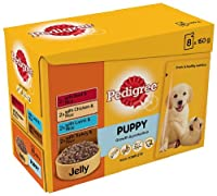 Pedigree Puppy Selection in Jelly 8 x 150 g (Pack of 4, Total 32 Pouches)