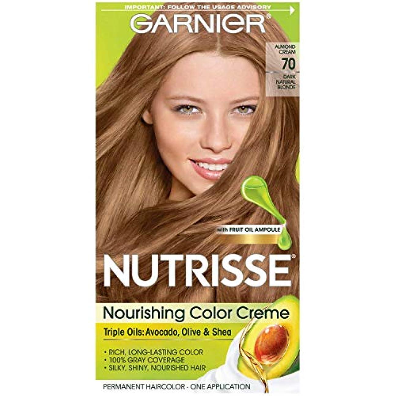 無線阻害する故障中Garnier Nutrisseヘアカラー、70ダークナチュラルブロンドアーモンドCRME、1つのカウント(12パック) 1パック