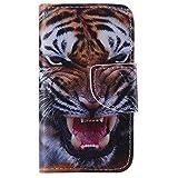 OMATENTI Apple iPhone 4 / iPhone 4S ケース, 高級PUレザー ケース 手帳型 保護ケース カード収納ホルダー付き 横置きスタンド機能付き マグネット式 スマホケース [無期限生涯補償付き] (P14 マルチカラー)