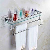 バスルームラックシングルレイヤーすべての青銅厚い強化ガラス化粧ラック(タオルバー付) /バスルーム (サイズ さいず : 50cm)