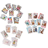 amleso ポップアップカード グリーティングカード 封筒 誕生日 紙カード 約25枚