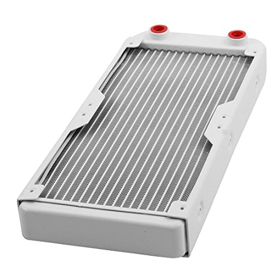 陽気な一般化するバイパスuxcell 水冷ラジエーター 水冷熱交換器ラジエータ アルミニウム ホワイト 18パイプ 270mmの長さ