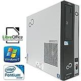 中古デスクトップパソコン fujitsu ESPRIMO D582/F Pentium G645 2.90GHz 2GB 250GB ROM win7 windows7 Pro SP1 32bit USB3.0 office 等インストール済