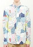 (グラニフ)graniph 総柄長袖シャツ / カラフルパッチワーク ( ブルー ) L
