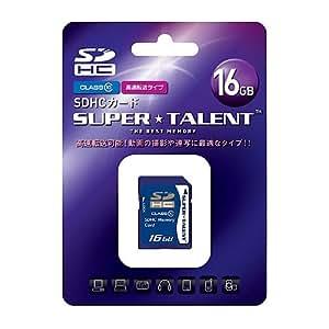 スーパータレント SDHCメモリーカード 16GB Class10 ST16SDC10