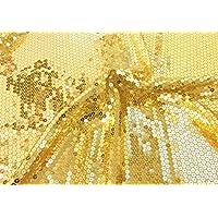 Somnus258 キラキラ スパンコール 生地 100cmX125CM ゴールド 衣装 テーブル 結婚式 宴会 パーテイ 飾り DIY