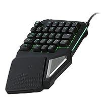 Delux T9 Pro ゲーミングキーボード 片手 USB有線 Esport 29キー LEDバックライト LOLなどゲーム用