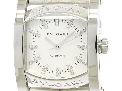 [ブルガリ]BVLGARI【BVLGARI】ブルガリ アショーマ ダイヤモンド シェル文字盤 ステンレススチール レザー 自動巻き メンズ 時計AA44S(BF111460)[中古]