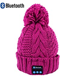 BOBORA ニット 帽子 Bluetooth 3.0 ニットキャップ スピーカー内蔵 ハンズフリー 小顔効果 防寒対策 冬場の外出に最高USB充電 スキーやスポーツに大活躍 洗濯可能