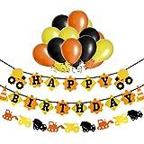 1st Happy Birthday Glitter decorations-purpleバタフライ3dバナーと花Monthlyマイルストーンフォトバナー、1 – 12月Numbering写真ガーランド、Great for Baby Kid 1年古いCelebration