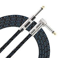 Donner 3M/5M ギターケーブル SL型 シールドケーブル 生地編み (3M(ブルー))