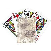 エレガントなヴィンテージグレーバタフライ壁紙Poker PlayingカードTabletopボードゲームギフト