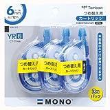 トンボ鉛筆 修正テープ MONO YX6カートリッジ YR6 KPA-323 3個