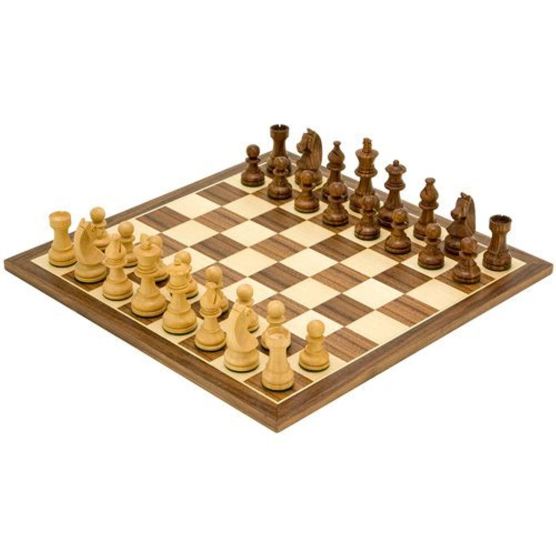 Down Head Knight Sheesham Chessmen With 13.75 Inch Walnut Board