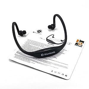 タオバオの達人 オリジナル スポーツ ステレオ ワイヤレス ブルートゥース Bluetooth ヘッドホン イヤホン for iPhone スマートフォン パソコン タブレット ブラック 黒 IFS9