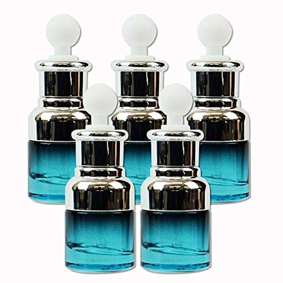 主に流用する可聴edog ガラス製 遮光ボトル 5本セット スポイト式 20ml 香水 エッセンシャルオイル アロマ