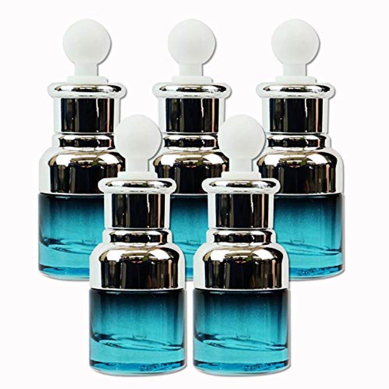 edog ガラス製 遮光ボトル 5本セット スポイト式 20ml 香水 エッセンシャルオイル アロマ