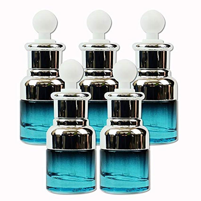 休眠勇気のあるタンクedog ガラス製 遮光ボトル 5本セット スポイト式 20ml 香水 エッセンシャルオイル アロマ