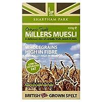 Sharpham Park Organic Spelt Miller's Muesli (450g) Sharpham ( 450グラム)を有機綴らミラーのミューズリーを駐車