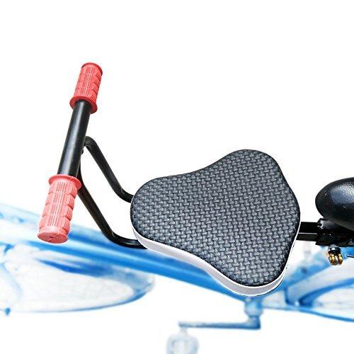 自転車チャイルドシート,YIFAN 子供乗せ自転車用 前後ろ子供のせ 自転車や電動の車ために適用し リヤチャイルドシートルーム インストールまたは解体し ブラック 丈夫な生地使用 自転車の子供の座席 取り付け位置固定ステム幅(約2.8 cm-4.2 cm) (手すりがあり)