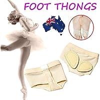 Women Lyrical Belly Ballet Dance Foot Thongs Toe Pad Practice Shoes Protection Dance Socks Foot Care Dance Paw Half Sole Foot Toe Undies