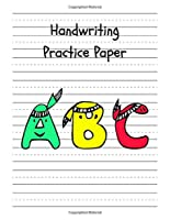 Handwriting Practice Paper: Perfect Writing Paper With Dotted Line For Kids.