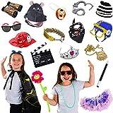 写真ブース小道具子供 – 15 pcセット – パーティードレスUp Props – Pretend Playコスチューム – AssortedドレスUpコスチュームby tigerdoe