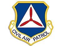 ブルーとイエローCivil Air Patrol Shield Shapedステッカー(キャップCrestロゴInsignia )