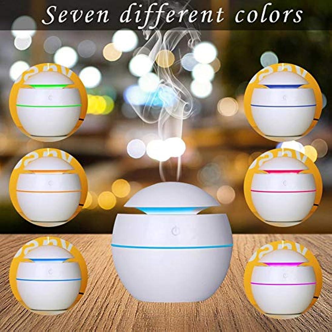 バター鉛読みやすさ最新USB七色変換ミニアロマ加湿器 水分補給アロマディフューザー 静音空気浄化機 (カートン)