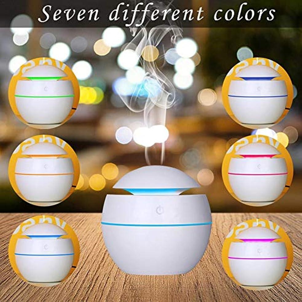 軸円形リベラル最新USB七色変換ミニアロマ加湿器 水分補給アロマディフューザー 静音空気浄化機 (カートン)
